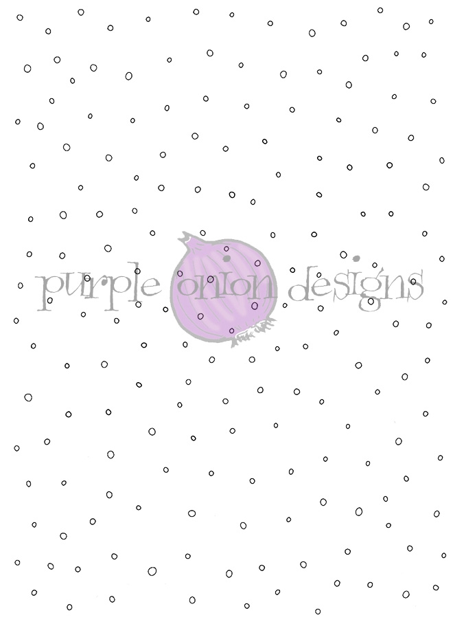 Purple Onion Designs LET IT SNOW BACKGROUND Cling Stamp pod3001* zoom image