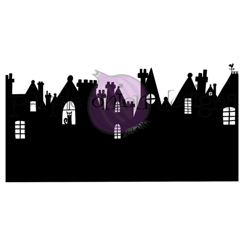 Purple Onion Designs ENGLISH ROOFTOPS Cling Stamp pod3003 Preview Image