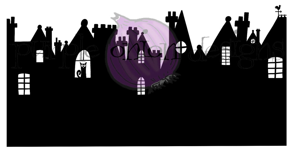 Purple Onion Designs ENGLISH ROOFTOPS Cling Stamp pod3003 zoom image