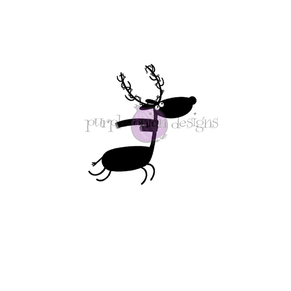 Purple Onion Designs RUDY Cling Stamp pod3016 zoom image