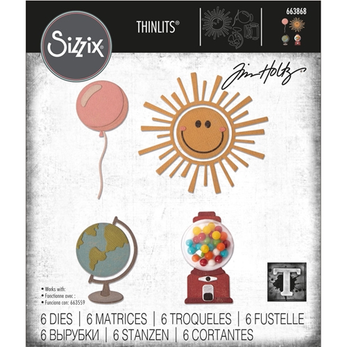 Tim Holtz Sizzix CIRCLE PLAY Thinlits Die Set 663868 Preview Image