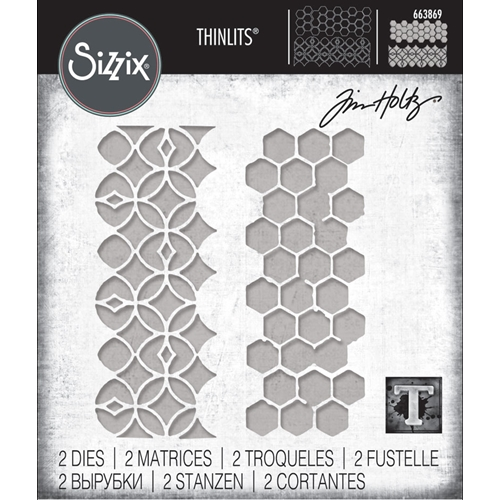 Tim Holtz Sizzix PATTERN REPEAT Thinlits Die Set 663869 Preview Image