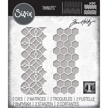 RESERVE Tim Holtz Sizzix PATTERN REPEAT Thinlits Die Set 663869