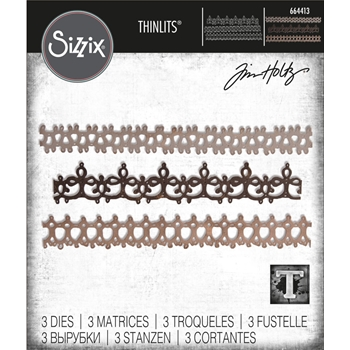 RESERVE Tim Holtz Sizzix CROCHET 2 Thinlits Die Set 664413