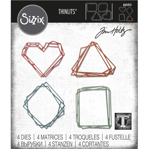Tim Holtz Sizzix GEO FRAMES Thinlits Die Set 664414 Preview Image