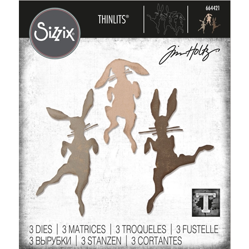 Tim Holtz Sizzix BUNNY HOP Thinlits Die Set 664421 Preview Image