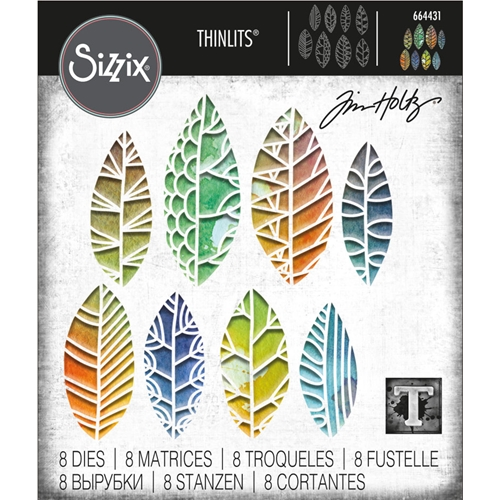 Tim Holtz Sizzix CUT OUT LEAVES Thinlits Die Set 664431 Preview Image