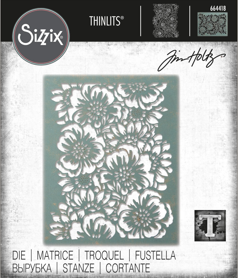 Tim Holtz Sizzix BOUQUET Thinlits Die 664418 zoom image