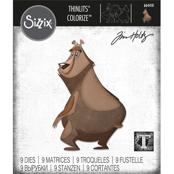 RESERVE Tim Holtz Sizzix THEODORE Colorize Thinlits Dies 664410