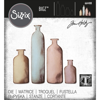 Tim Holtz Sizzix BOTTLED UP Bigz Die 664408