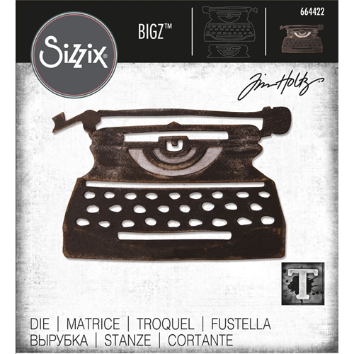 Tim Holtz Sizzix RETRO TYPE Bigz Die 664422 Preview Image