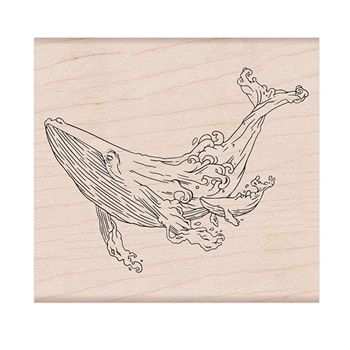 Hero Arts Rubber Stamp CELEBRATE EARTH WHALES K6369