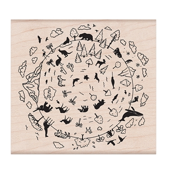 Hero Arts Rubber Stamp NATURAL  WONDERS OF THE WORLD K6367