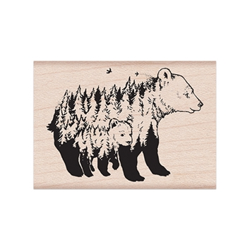 Hero Arts Rubber Stamp CELEBRATE EARTH BEARS E6370