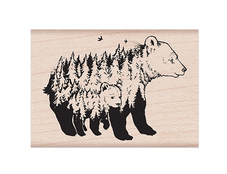 Hero Arts Rubber Stamp CELEBRATE EARTH BEARS E6370 zoom image