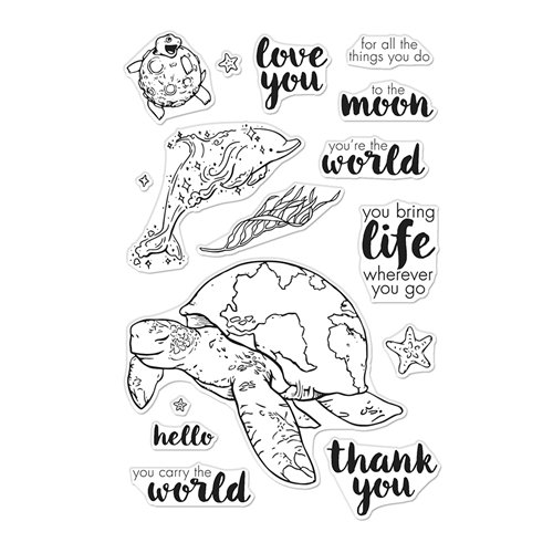 Hero Arts Clear Stamps CARRY THE WORLD CM422 Preview Image