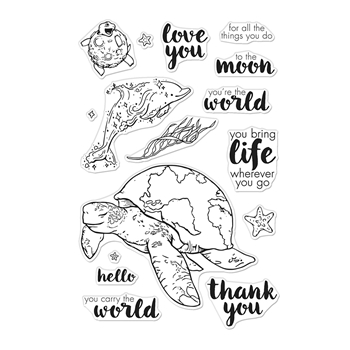 Hero Arts Clear Stamps CARRY THE WORLD CM422