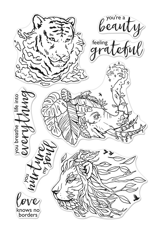 Hero Arts Clear Stamps NATURE'S BEAUTY CM415 zoom image