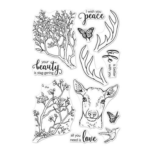 Hero Arts Clear Stamps STAGGERING BRANCHES CM408 Preview Image