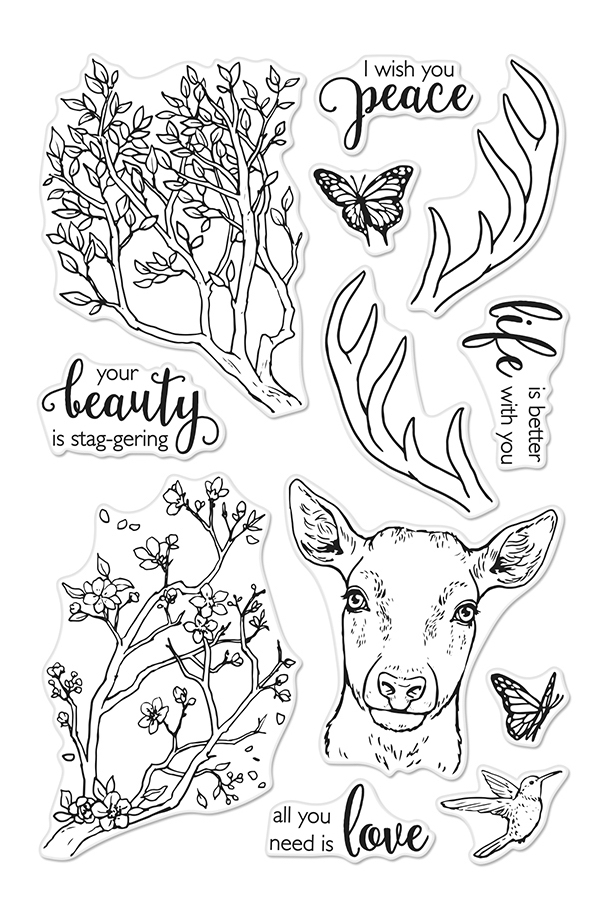 Hero Arts Clear Stamps STAGGERING BRANCHES CM408 zoom image