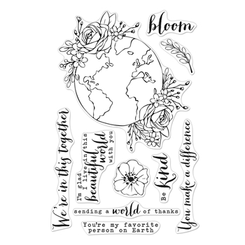 Hero Arts Clear Stamps BEAUTIFUL WORLD CM407