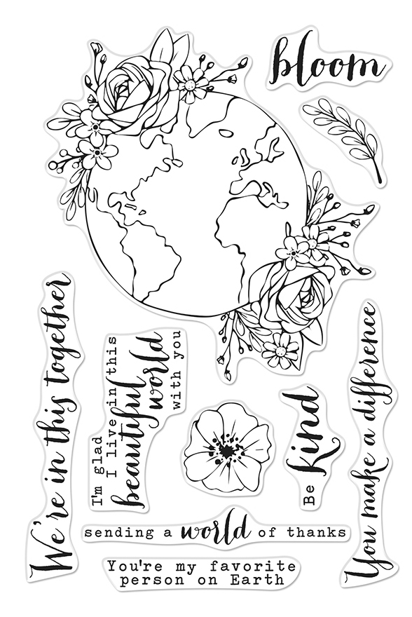 Hero Arts Clear Stamps BEAUTIFUL WORLD CM407 zoom image