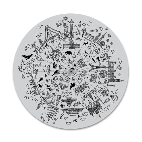 Hero Arts Cling Stamps WONDERS OF THE WORLD BOLD PRINTS CG803 Preview Image