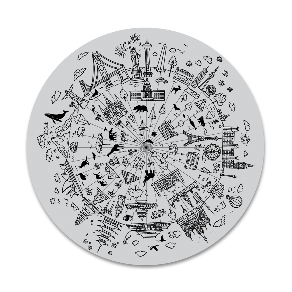 Hero Arts Cling Stamps WONDERS OF THE WORLD BOLD PRINTS CG803 zoom image