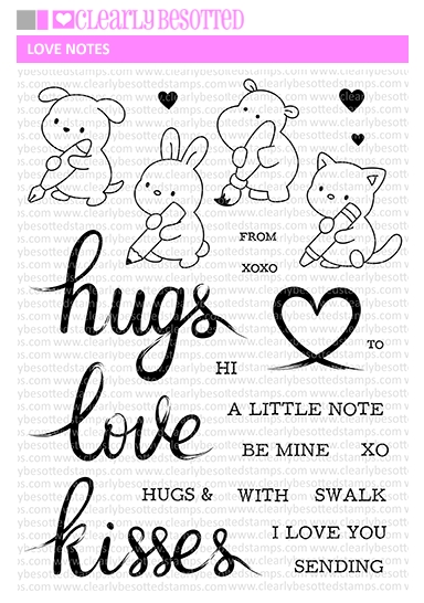 Clearly Besotted LOVE NOTES Clear Stamps * zoom image