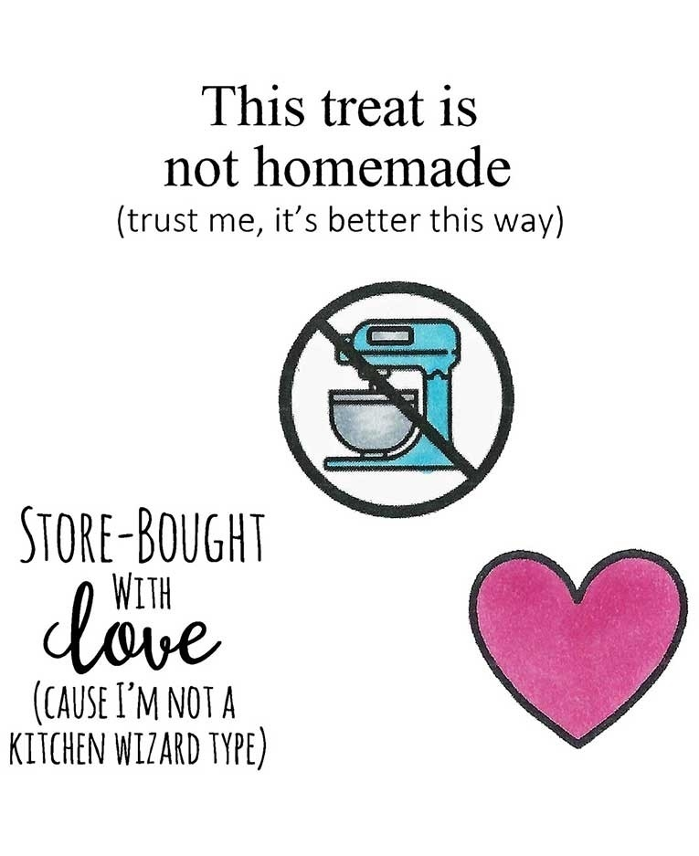 Inky Antics STORE BOUGHT WITH LOVE Clear Stamp Set 11483sc zoom image