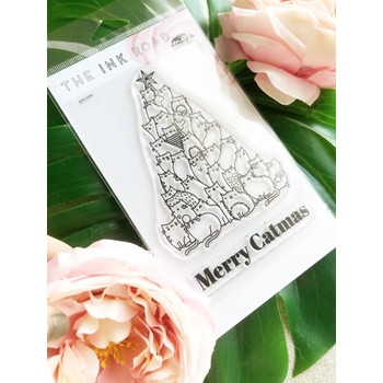 The Ink Road MERRY CATMAS Clear Stamp Set inkr121