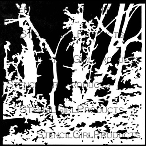StencilGirl ROOTED IN NATURE RIVERBANK 6x6 Stencil s743 Preview Image