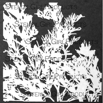 StencilGirl ROOTED IN NATURE BOTANICAL 6x6 Stencil s737