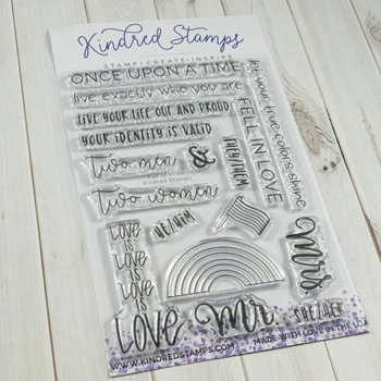 Kindred Stamps FULL OF PRIDE Clear Stamps 75551548