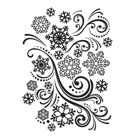 Darice SNOWFLAKES AND FLOURISHES Embossing Folder 121839 Preview Image