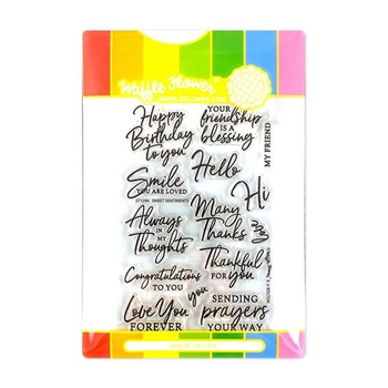 Waffle Flower SWEET MAILBOX Clear Stamp and Die Combo WFC296