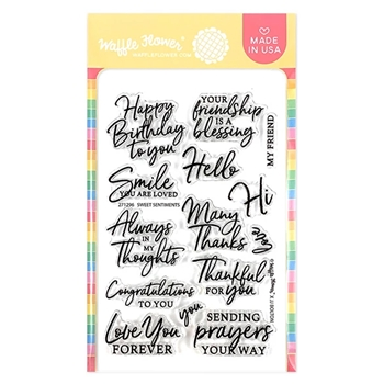 Waffle Flower SWEET SENTIMENTS Clear Stamps 271296
