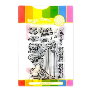 Waffle Flower HARPY BIRTHDAY Clear Stamp and Die Combo WFC294*