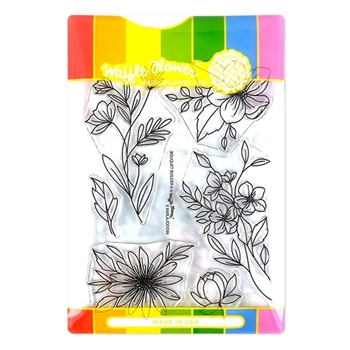 Waffle Flower BOUQUET BUILDER 6 Clear Stamp and Die Combo WFC291