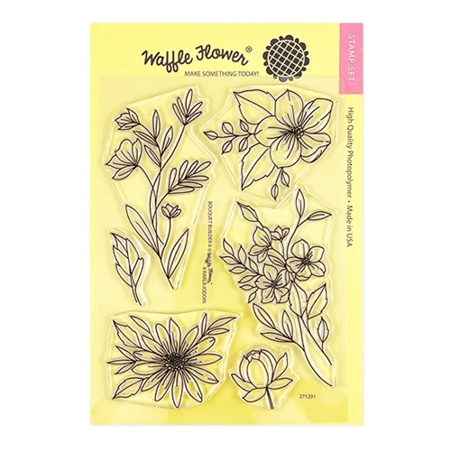 Waffle Flower BOUQUET BUILDER 6 Clear Stamps 271291 Preview Image