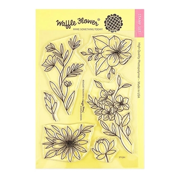 Waffle Flower BOUQUET BUILDER 6 Clear Stamps 271291