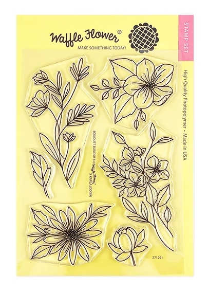 Waffle Flower BOUQUET BUILDER 6 Clear Stamps 271291 zoom image