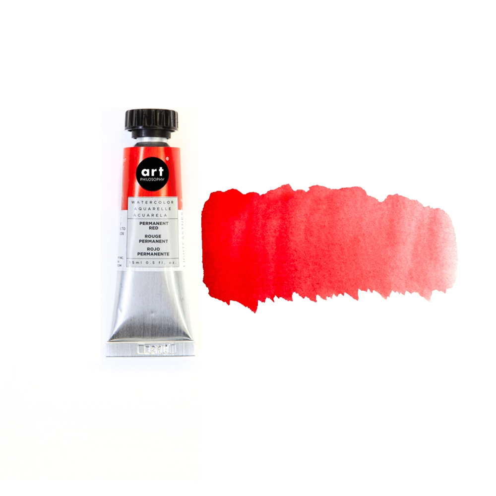 Prima Marketing PERMANENT RED Art Philosophy Watercolor Tube 643478 zoom image