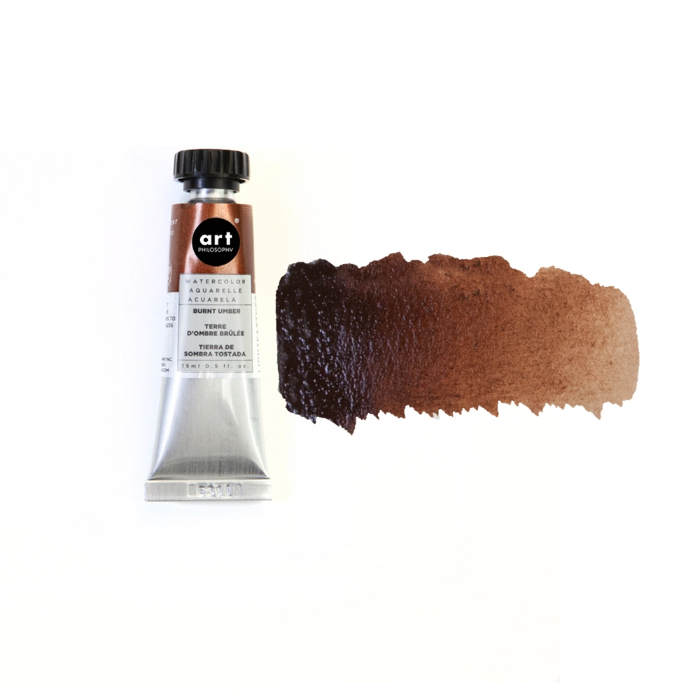 Prima Marketing BURNT UMBER Art Philosophy Watercolor Tube 643515 zoom image
