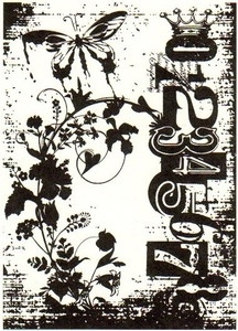 Tim Holtz Rubber Stamp FAIRY GARDEN Stampers Anonymous P4-1402