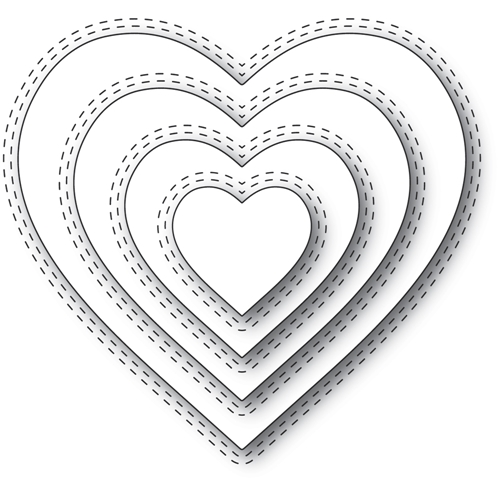 Memory Box DOUBLE STITCH LOVING HEART CUT OUT Craft Dies 94359 Preview Image