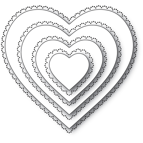 Memory Box SCALLOP PINPOINT LOVING HEART CUT OUT Craft Dies 94364 Preview Image
