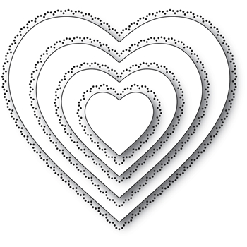Memory Box SCALLOP PINPOINT LOVING HEART CUT OUT Craft Dies 94364