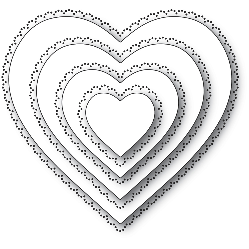 Memory Box SCALLOP PINPOINT LOVING HEART CUT OUT Craft Dies 94364 zoom image
