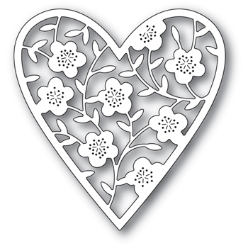 Memory Box FLORAL BOUQUET HEART Craft Die 94368